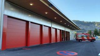Saint-Maurice et Lavey-Morcles inaugurent leur caserne de pompiers intercantonale