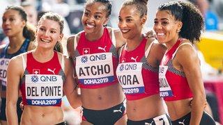 Athlétisme - Mondiaux de Doha: les Suissesses en chocolat lors du relais 4x100m