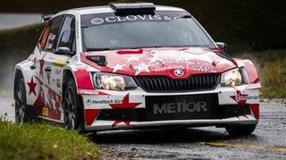 Le Verbiérain Mike Coppens est 2e provisoire du Rallye international du Valais. Il met la pression sur le leader Olivier Burri.