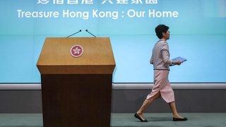 Chaos au parlement  de Hong Kong