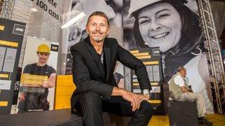 A la Foire avec Serge Métrailler, le boss de la construction à bloc pour fêter 100 ans