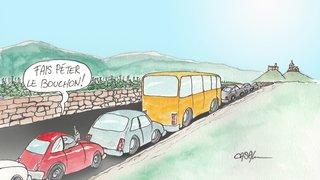 Entre Savièse et Sion, la voiture sature les routes
