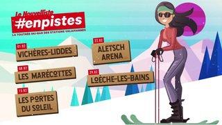 La tournée #enpistes du Nouvelliste dans les stations valaisannes pour la 4e fois cet hiver