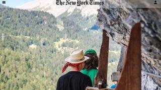 Le New York Times découvre les bisses du Valais