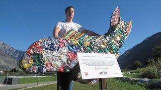 Saxon: de déchets à œuvre d'art pour sensibiliser à l'environnement
