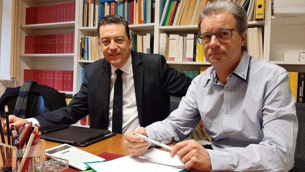 Alphonse-Marie Veuthey (à droite) et Werner Grange ont expliqué la médiation réalisée à Saint-Gingolph.
