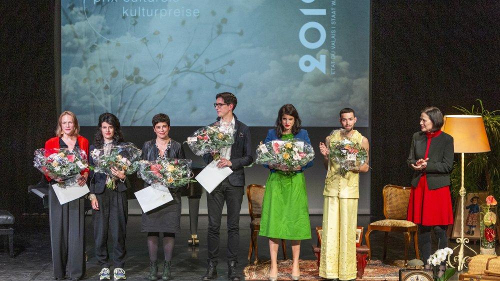 Les lauréats ont été chaleureusement applaudis vendredi soir à l'issue d'une cérémonie très vivante, en présence de la conseillère d'Etat Esther Waeber-Kalbermatten.