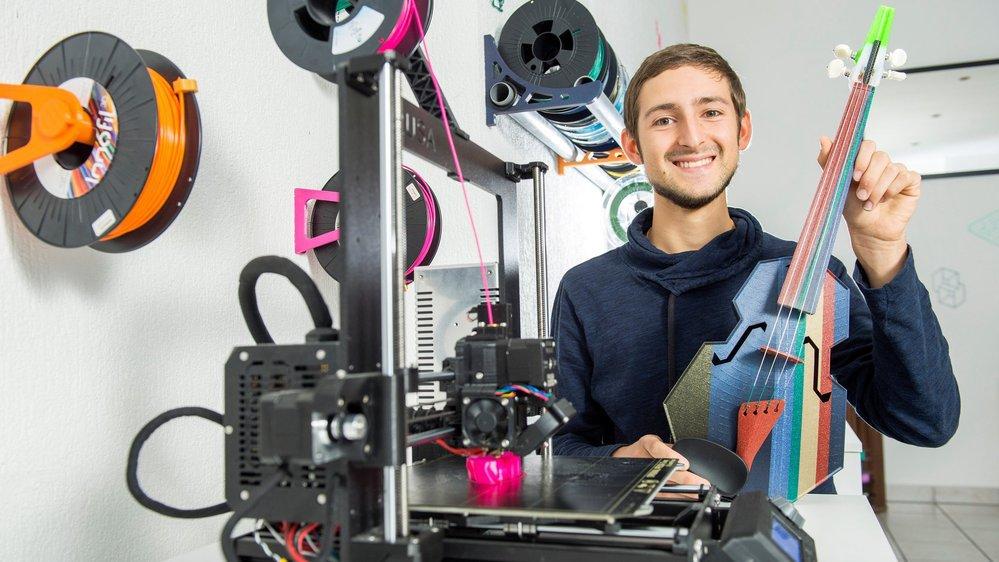 Garrett Wollam a créé un violon tout en plastique dans son atelier, avec ses imprimantes 3D.