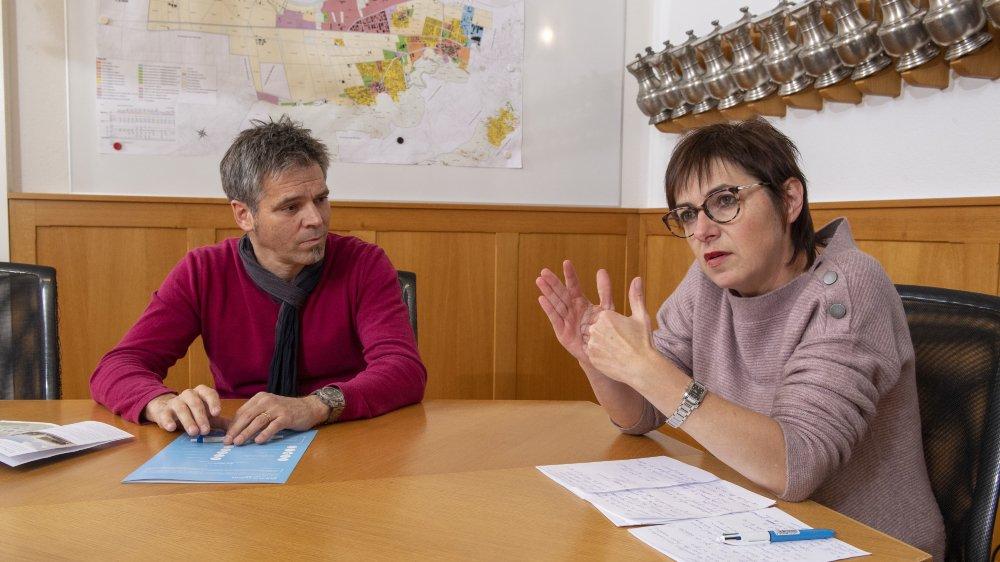 Alexis Turin et Véronique Chervaz ont présenté leurs arguments pour la future votation.