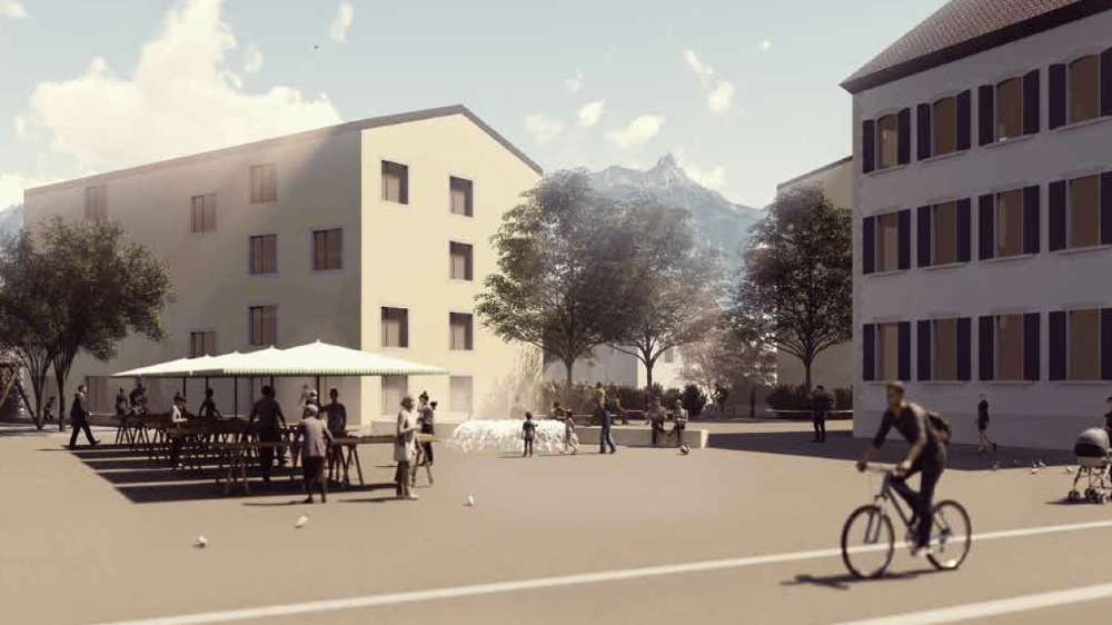 Le futur plan de quartier concerne une parcelle de 13000 mètres carrés.