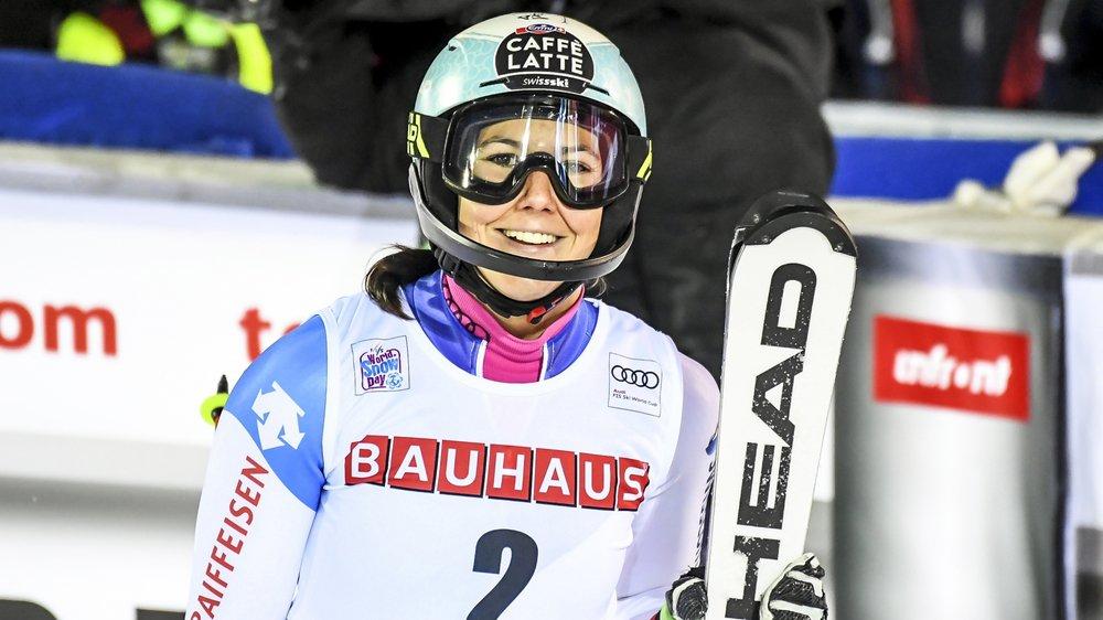 Le dossard numéro deux pour une nouvelle deuxième place. Wendy Holdener a signé samedi le 23e podium de sa carrière en slalom.