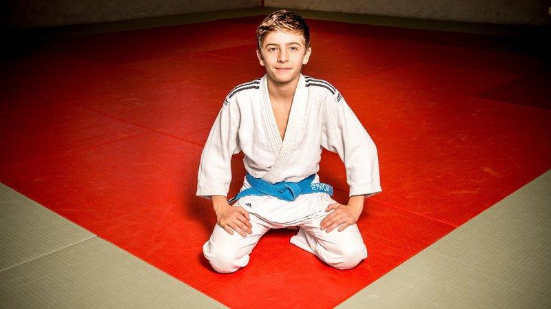 Simon Maitin s'est imposé en finale au golden score dans la catégorie des U18 -50 kilos.