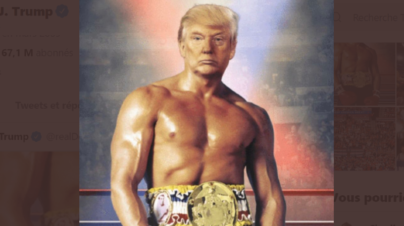 Etats-Unis: quand Donald Trump se prend pour Rocky Balboa sur Twitter