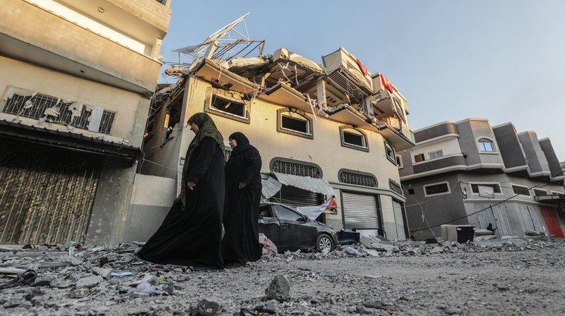 Le chef du jihad islamique Bahaa Abu al-Ata et sa femme ont été tués mardi par une frappe aérienne. Ils habitaient la maison au centre de la photo.