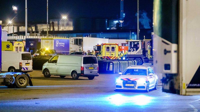 Les passagers clandestins, dont l'origine n'a pas été précisée, ont reçu des soins médicaux au port de Vlaardingen, près de Rotterdam (sud).
