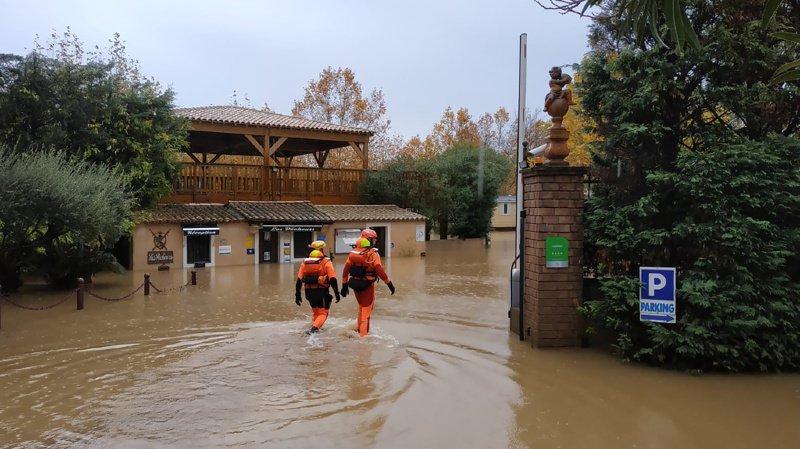La commune française de Roquebrune-sur-Argens avait déjà été inondée le weekend dernier.