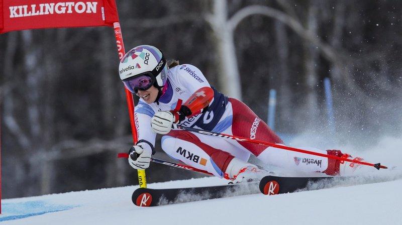 Ski alpin: Michelle Gisin 3e provisoire du Géant de Killington