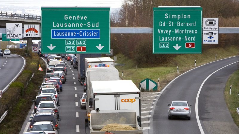 La route représente 63% de tous les transports de marchandises. (illustration)
