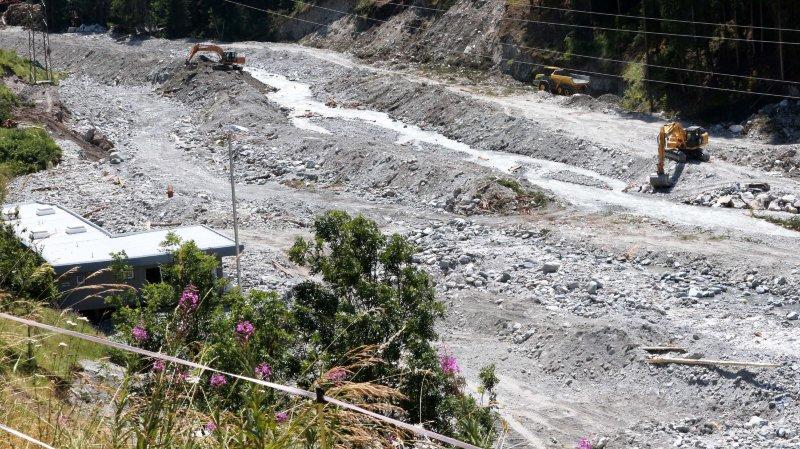 L'ancien terrain du FC Anniviers, situé à Mission, avait été complètement ravagé par la crue centennale de la Navizence, en juillet 2018.