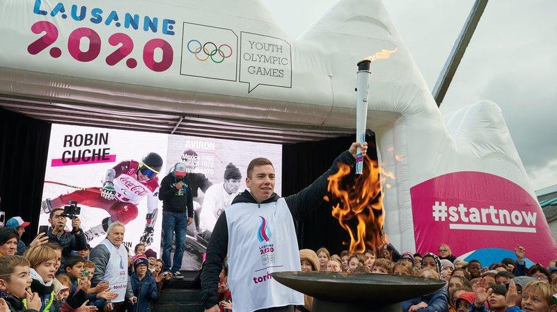 La flamme des Jeux olympiques de la jeunesse s'arrête à Sion, ce samedi