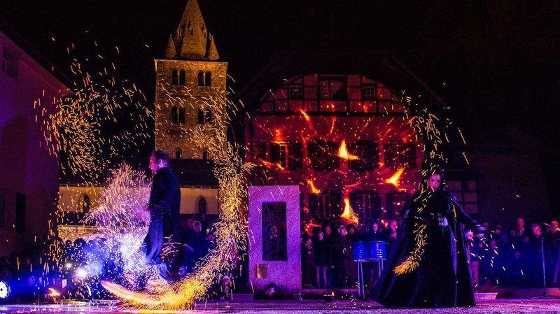 Six compagnies jouant avec le feu se produiront dans les rues de la vieille ville.