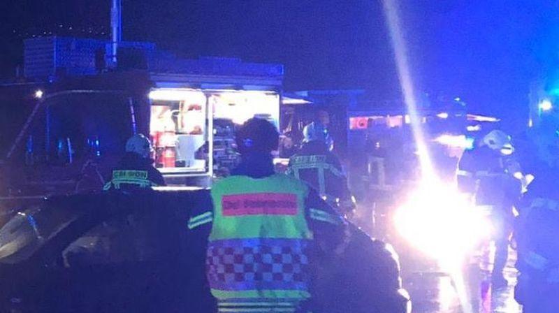 L'accident est survenu sur la route cantonale entre Saint-Pierre-de-Clages et Riddes.
