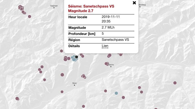 L'épicentre du séisme était situé au col de Sanetsch.