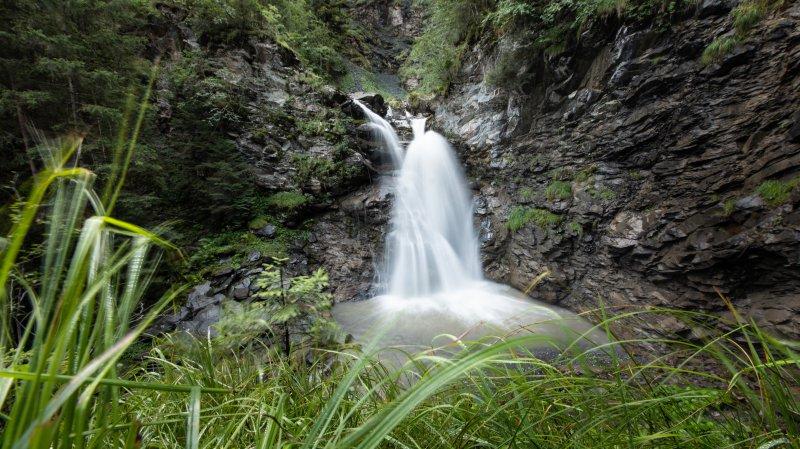 La cascade de la Saufla, dans le val d'Illiez.