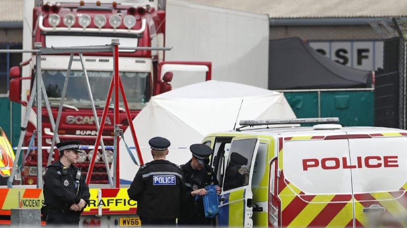 La police britannique a arrêté le chauffeur du camion dans le cadre d'une enquête pour meurtre (archives).