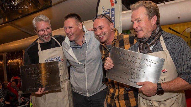Le Mondial de la fondue a sacré deux amateurs et deux professionnels, ce samedi à Tartegnin (VD).