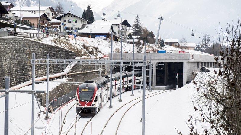 Dès le 21 décembre, le Verbier Express circulera les samedis et dimanches entre Genève-Aéroport et Le Châble (photo).