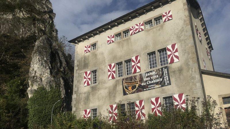 Le château de la Porte-du-Scex à Vouvry accueillera les vignerons chablaisiens dans ses salles au premier et au deuxième étages.