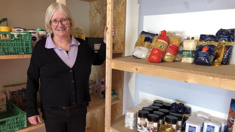 Marie-Noëlle Favre est la responsable du magasin solidaire de l'association Noble et Louable Contrée Partage.