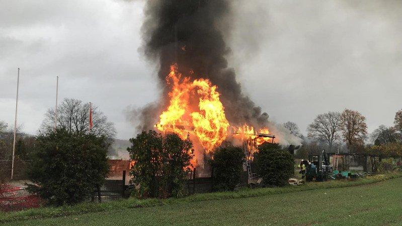 Un homme meurt dans l'incendie d'un hangar à outils à Aesch (BL)