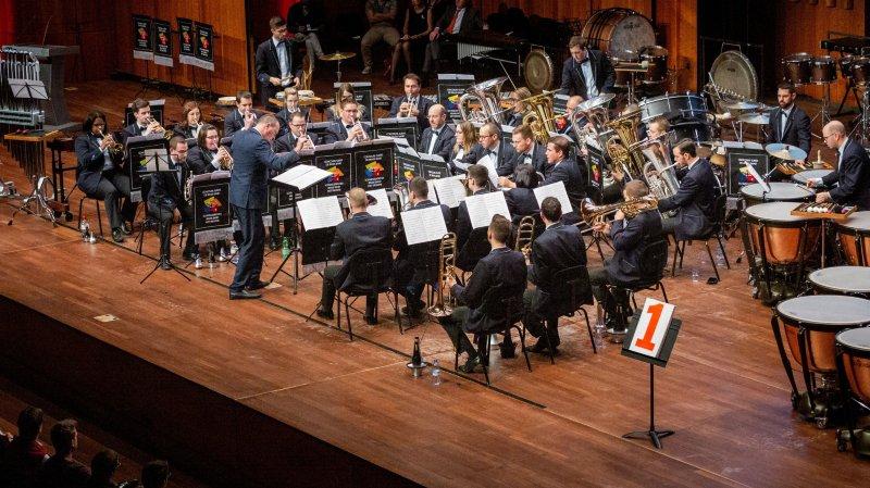 Le Valaisia Brass Band a ouvert les feux du concours de la catégorie excellence dimanche après-midi sur la scène de l'Auditorium Stravinski.