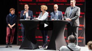 Fédérales 2019: le grand débat valaisan pour la course au Conseil des États en vidéo