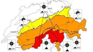 Le Haut-Valais en danger fort d'avalanche