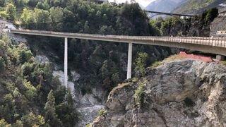 Contournement de Stalden: le pont Chinegga terminé