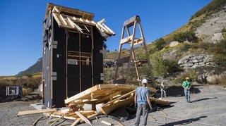 Chamoson: Une tentative de destruction confirme la résistance aux séismes du bois