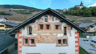 Flanthey: une fête pour célébrer la restauration des façades peintes du château de Vaas