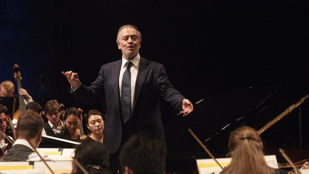 Valery Gergiev tient la baguette du Verbier festival orchestra depuis 2018.