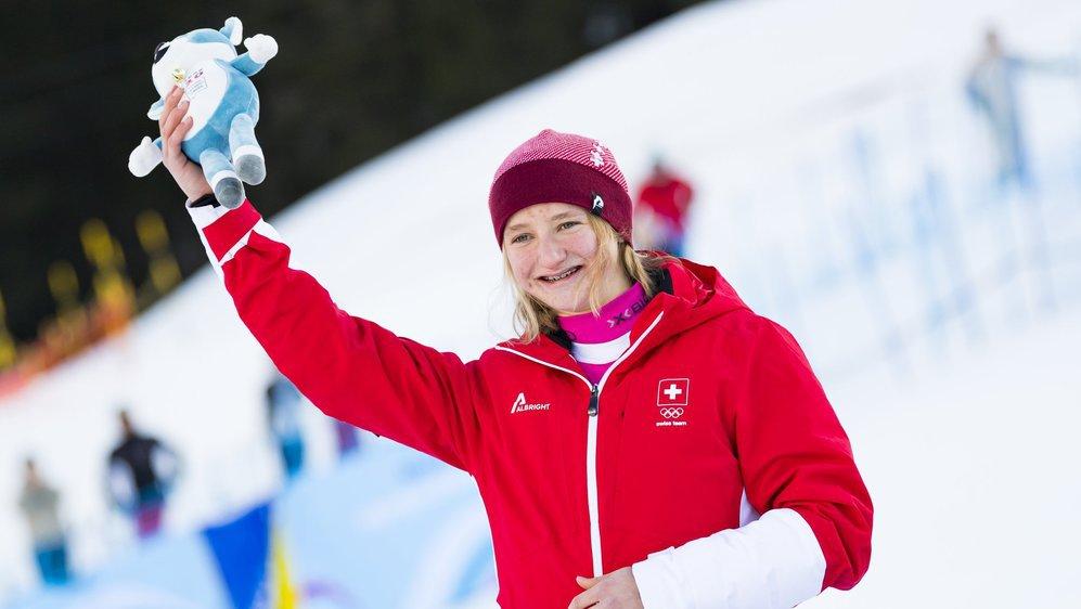 Lena Volken du SC Brigerberg a réussi à rester parmi les trois plus rapides pour finalement terminer vice-championne olympique.