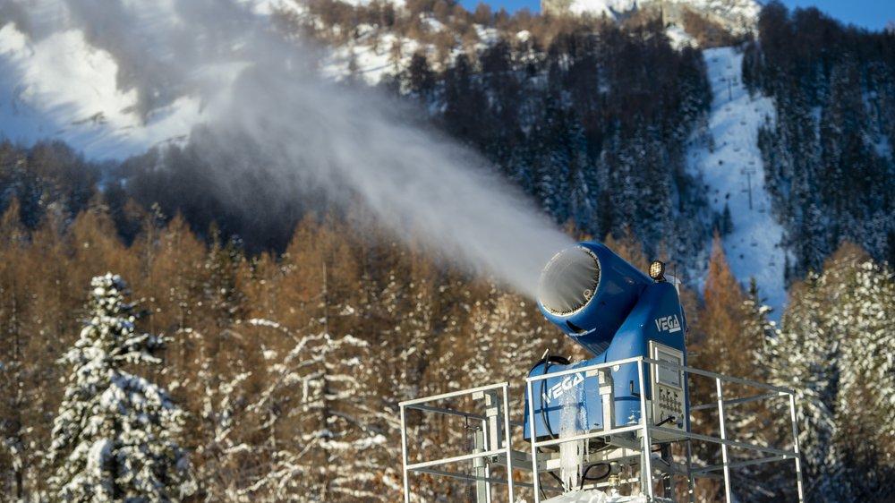 En ce début de 2020, les conditions ne sont pas optimales pour la production de neige artificielle.