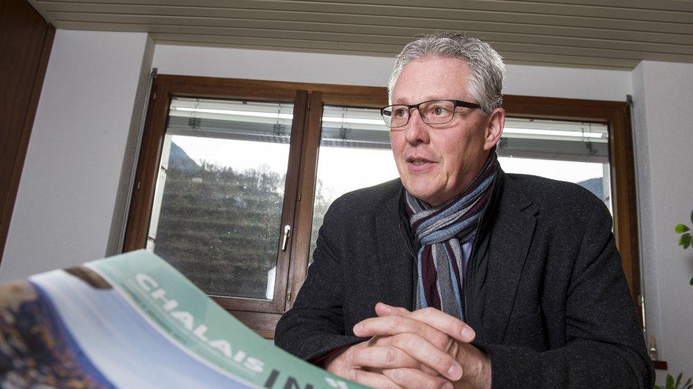 Président de Chalais depuis 2004, Alain Perruchoud ne briguera pas de nouveau mandat cet automne.