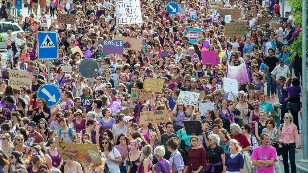 A Sion, les femmes se sont mobilisées en nombre.