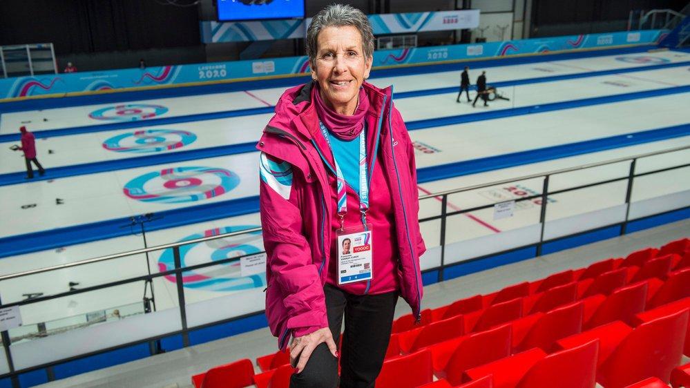 Françoise Vannay-Furer se sent comme à la maison au Palladium où elle œuvre pour les compétitions de curling depuis 2005.