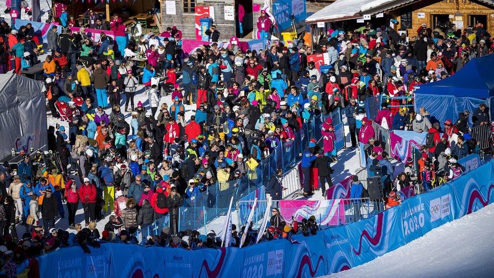Les épreuves de ski alpin aux Diablerets marchent très fort. Ils étaient plus de 10 000, samedi et dimanche.