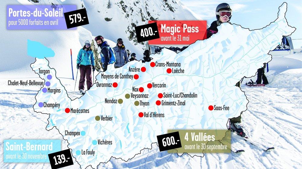 En profitant des offres indigène ou super-indigène, et en achetant assez tôt, un abonnement de ski saison coûte moins de 600 francs.