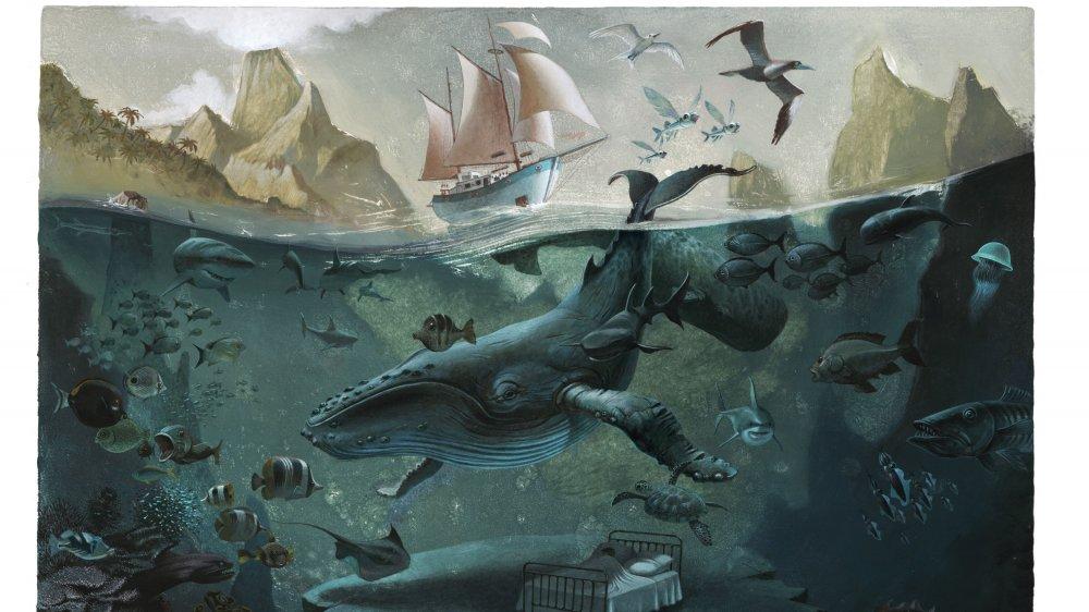 """""""Le rêve bleu"""" ou le souvenir des mémorables séances de snorkeling à la rencontre des baleines à bosse."""