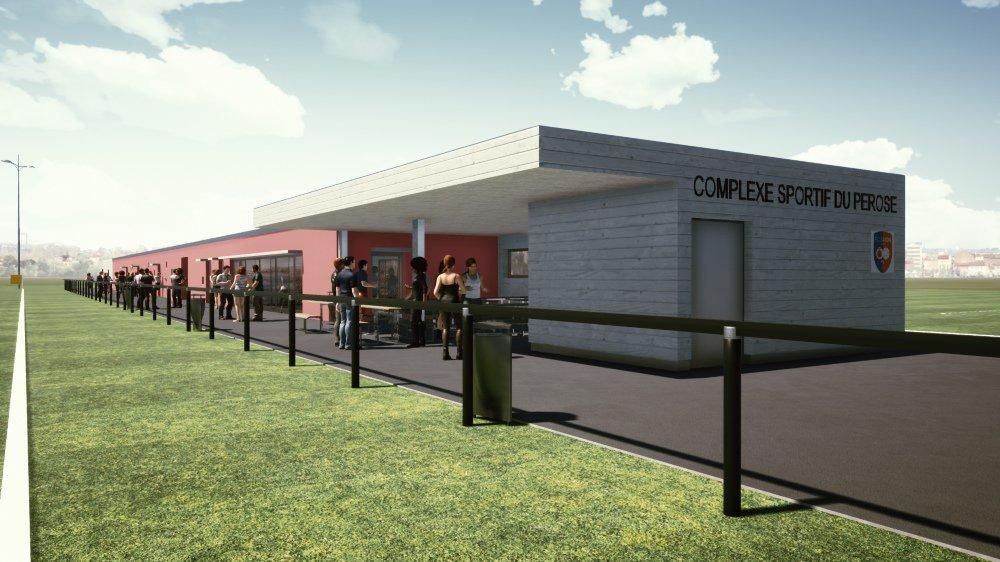Le complexe sportif de Pérosé sera bientôt doté d'infrastructures dignes de ce nom.